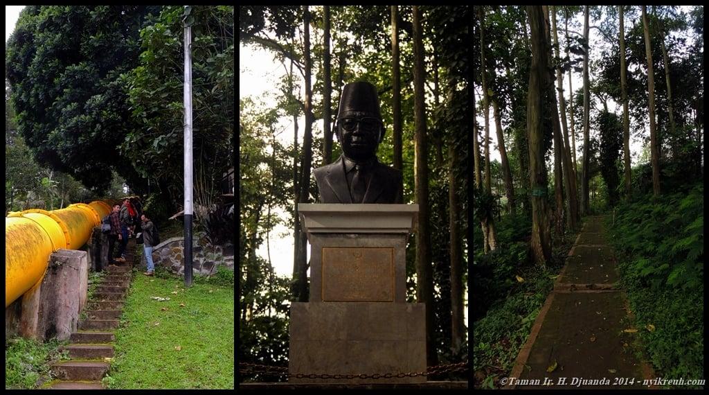Tangga Seribu, Patung Ir. H. Djuanda dan Jalan yang dikelilingi pepohonan