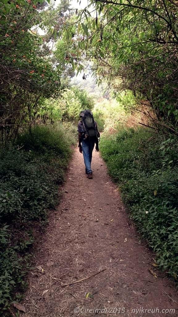 Perjalanan menuju puncak ciremai