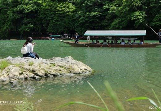 Sungai di deket Arashiyama Bamboo Grove