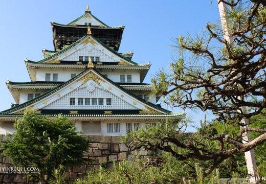 Osaka castle, inituh bangunan peninggalan budaya yang dilindungi oleh pemerintah Jepang