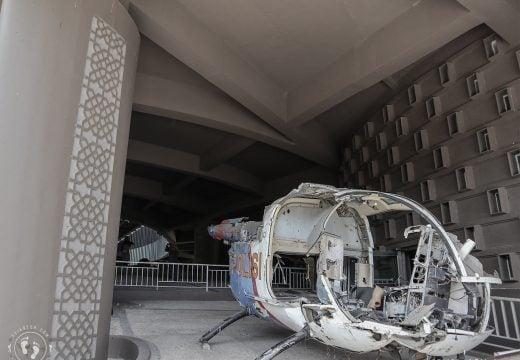 Helikopter yang digunakan untuk evakuasi